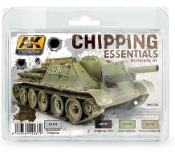 Chipping Essentials Weathering Acrylic Paint Set (4 Colors) 17ml Bottles