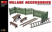Village Accessories (Fences, Table w/Benches, Ladders)