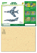 1/48 Airbrush CAMO-MASK for 1/48 Super Etendard Camouflage Scheme
