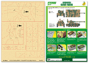 1/35 Airbrush CAMO-MASK for 1/35 AMX13/75 Camouflage Scheme 3