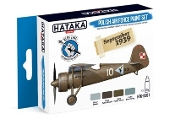 Blue Line (Brush-Dedicated): Polish Air Force 1919-1939 Camouflage Paint Set (4 Colors) 17ml Bottles