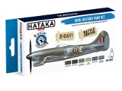 Blue Line (Brush-Dedicated): RAF D-Day Battle of Britain Camouflage Paint Set (6 Colors) 17ml Bottles