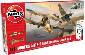 Junkers Ju87R2 & Gloster Gladiator Mk I Dogfight Doubles Gift Set w/paint & glue