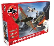 P40B Warhawk, A6M2B21 Zero, B5N2 Kate Aircraft Pearl Harbor 75th Anniversary Gift Set w/paint & glue
