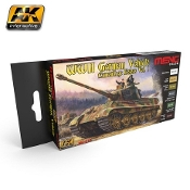 WWII German Vehicle Camouflage Colors Vol.1 Acrylic Paint Set (6 Colors) 17ml Bottles