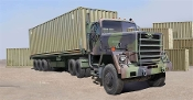 M915 Tractor w/M872 Flatbed Trailer & 40ft Container