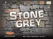 Stone Grey Diorama Acrylic Set (6 22ml Bottles)