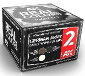 Real Colors: German Army Early WWII Acrylic Lacquer Paint Set (3) 10ml Bottles