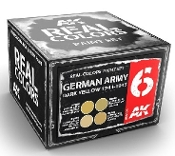 Real Colors: German Army Dark Yellow 1943-1945 Acrylic Lacquer Paint Set (4) 10ml Bottles