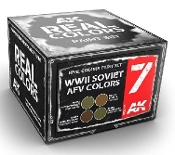 Real Colors: WWII Soviet AFV Acrylic Lacquer Paint Set (4) 10ml Bottles