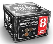 Real Colors: British Army Early 6 & Mid WWII Vehicles Acrylic Lacquer Paint Set (4) 10ml Bottles
