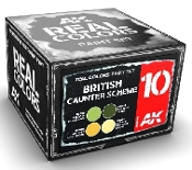 Real Colors: British Counter Scheme Acrylic Lacquer Paint Set (4) 10ml Bottles