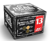 Real Colors: WWII US Army Basic Acrylic Lacquer Paint Set (4) 10ml Bottles