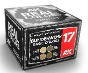 Real Colors: Bundeswehr Acrylic Lacquer Paint Set (4) 10ml Bottles