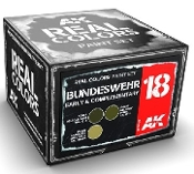 Real Colors: Bundeswehr Early & Complementary Acrylic Lacquer Paint Set (3) 10ml Bottles