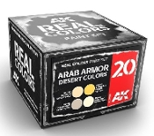 Real Colors: Arab Armor Desert Colors Acrylic Lacquer Paint Set (4) 10ml Bottles