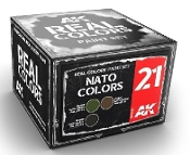 Real Colors: NATO Colors Acrylic Lacquer Paint Set (3) 10ml Bottles