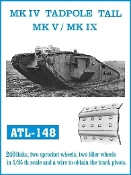 1/35 Mk IV Tadpole Tail, Mk V/IX Track Set (240 Links & 2ea. Sprocket/Idler Wheels)