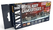 Naval Series: Royal Navy Camouflages 1 Acrylic Paint Set (6 Colors) 17ml Bottles