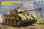 WWII SdKfz 171/267 Panther A Mid-Late Production Tank w/Zimmerit & Full Interior (2 in 1)