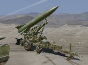 US Army MGM52 Lance Missile w/Launcher Trailer