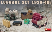Luggage Set 1930-40s (Dock Cart, Pram, Suitcases & Bags)