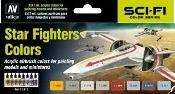 17ml Bottle Star Fighters Sci-Fi Colors Model Air Paint Set (8 Colors)