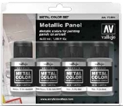 32ml Bottle Aircraft Metallic Panel Metal Color Paint Set (4 Colors)