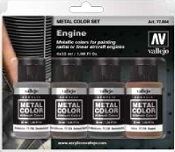 32ml Bottle Aircraft Engine Metal Color Paint Set (4 Colors)