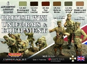 British WWI Uniforms & Equipment Acrylic Set (6 22ml Bottles)