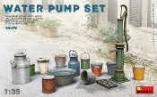 Water Pump Set w/Buckets, Cans, etc