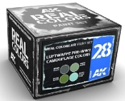 Real Colors: Luftwaffe Pre-WWII Camouflage Acrylic Lacquer Paint Set (4) 10ml Bottles