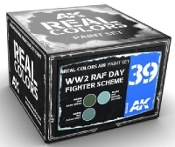 Real Colors: WWII RAF Day Fighter Scheme Acrylic Lacquer Paint Set (3) 10ml Bottles