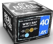 Real Colors: WWII RAF Desert Acrylic Lacquer Paint Set (3) 10ml Bottles
