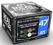 Real Colors: USAF TAC South East Asia (SEA) Scheme Acrylic Lacquer Paint Set (4) 10ml Bottles