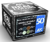 Real Colors: Israeli AF Early Acrylic Lacquer Paint Set (4) 10ml Bottles
