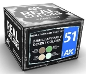 Real Colors: Israeli AF Early Desert Acrylic Lacquer Paint Set (4) 10ml Bottles