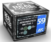 Real Colors: Aeronautica Militar I Acrylic Lacquer Paint Set (3) 10ml Bottles