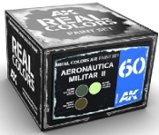 Real Colors: Aeronautica Militar II Acrylic Lacquer Paint Set (3) 10ml Bottles