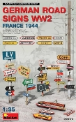 WWII German Road Signs France 1944