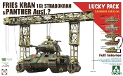 Fries Kran 16t Strabokran Heavy Crane 1943-44 Production & Panther Tank w/Full Interior (Ltd Edition)