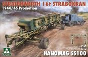 Stratenwerth 16t Strabokran Heavy Crane 1944-45 Production & Hanomag SS100 Transporter