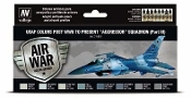 17ml Bottle USAF Colors Post WWII to Present Aggressor Squadron Part 3 Model Air Paint Set (8 Colors)