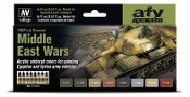 17ml Bottle Middle East Wars 1967's to Present Model Air Paint Set (8 Colors)