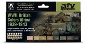 17ml Bottle WWII British Colors Africa 1939-1943 Model Air Paint Set (8 Colors)