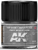 Real Colors: RAF Dark Camouflage Grey BS381C/629 Acrylic Lacquer Paint 10ml Bottle