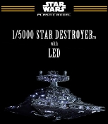 1/5000 Star Wars A New Hope: Star Destroyer LED Lighted w/in-scale Millennium Falcon & Blockade Runner (First Production Ltd Edition)