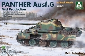 Panther Ausf G Mid Production Tank w/Steel Wheels & Full Interior (2 in 1)