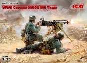 WWII German MG08 Machine Gun Team (2) w/Weapons & Equipment