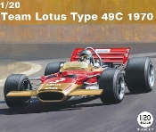 1/20 1970 Lotus Type 49C Team Lotus F1 Race Car
